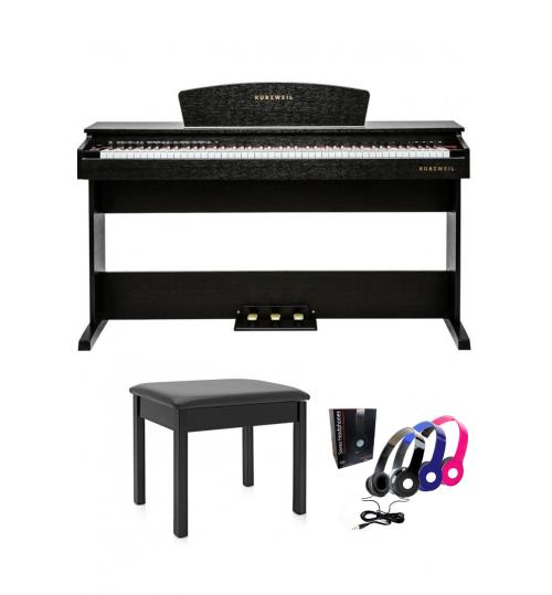 Kurzweil M70SR Dijital Piyano (Gül kurusu) + Tabure + Kulaklık