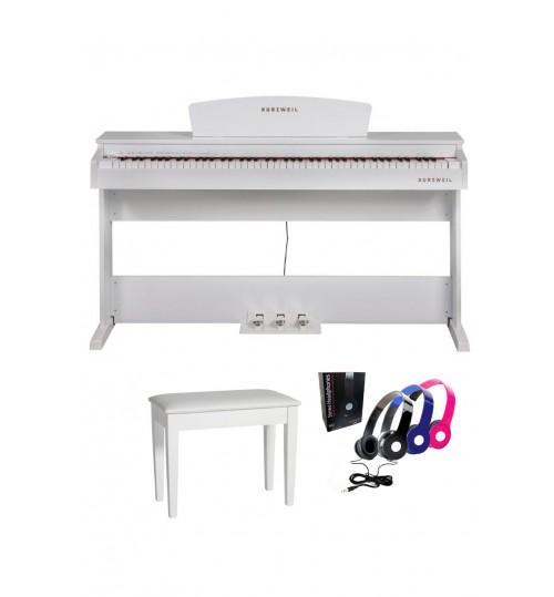 Kurzweil M70WH Dijital Piyano (Beyaz) + Tabure + Kulaklık