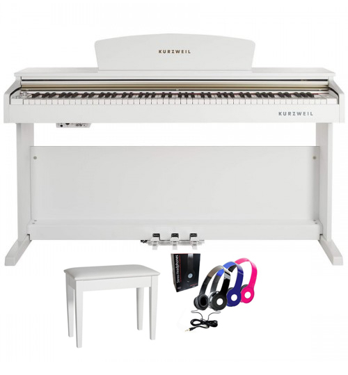 Kurzweil M90 Dijital Beyaz Piyano + Tabure + Kulaklık