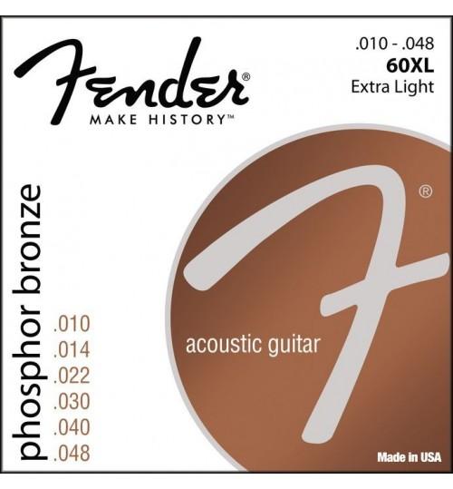 Fender Phosphor Bronze Akustik Gitar Teli Ball End 60XL .010-.048  0730060402
