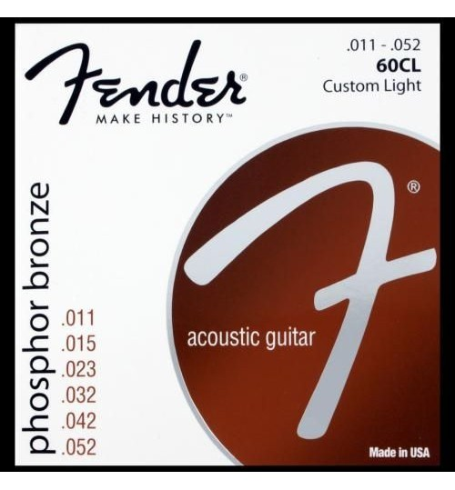 Fender Phosphor Bronze Akustik Gitar Teli Ball End 60CL .011-.050  0730060405