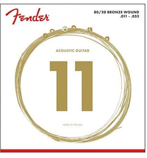 Fender 80/20 Bronze Akustik Gitar Teli Ball End 70CL .011-.050 0730070405