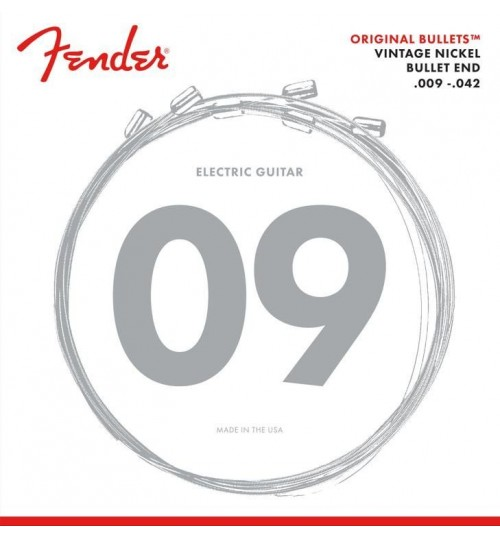 Fender Original Bullets Elektro Gitar Teli Pure Nickel Bullet End 3150L Gauges .009-.042 0733150403