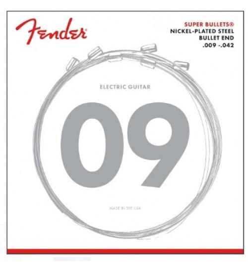Fender Super Bullets 3250L Nickel-Plated Steel (9-42) Elektro Gitar Takım Tel 0733250403