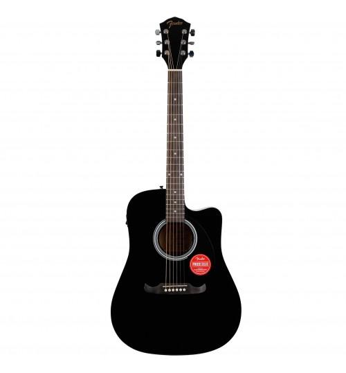 Fender FA-125CE Dreadnought Ceviz Klavye Black Elektro Akustik Gitar 0971113506