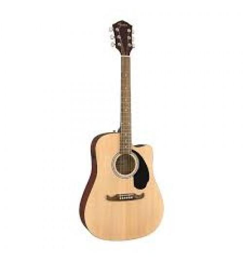 Fender FA-125CE Dreadnought Ceviz Klavye Natural Elektro Akustik Gitar 0971113521