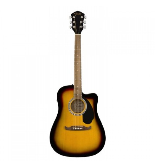 Fender FA-125CE Dreadnought Ceviz Klavye Sunburst Elektro Akustik Gitar 0971113532