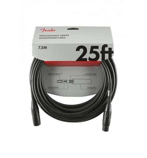 Fender Professional Mikrofon Kablosu 25 Black Kablo 7,5 Metre 0990820015