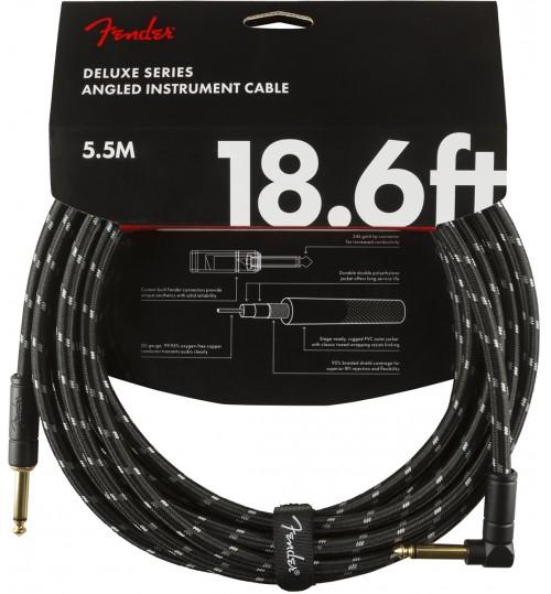 Fender Deluxe Enstruman Kablosu  Straight/Angle 18.6 Black Tweed Kablo 5,5 Metre 0990820079
