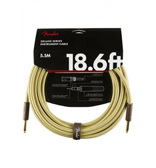Fender Deluxe Enstruman Kablosu Straight/Straight 18.6 Tweed Kablo 5,5 Metre 0990820081