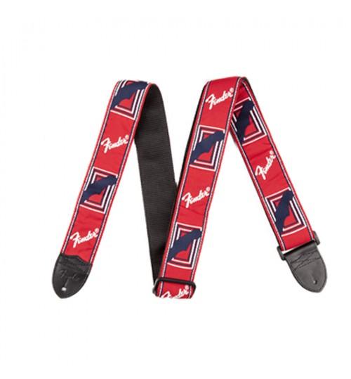 Fender Monogrammed Strap RED/WHITE/BLUE 0990682000