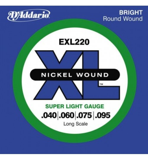D'addario 0.40 Long Scale Bass Gitar Teli EXL220