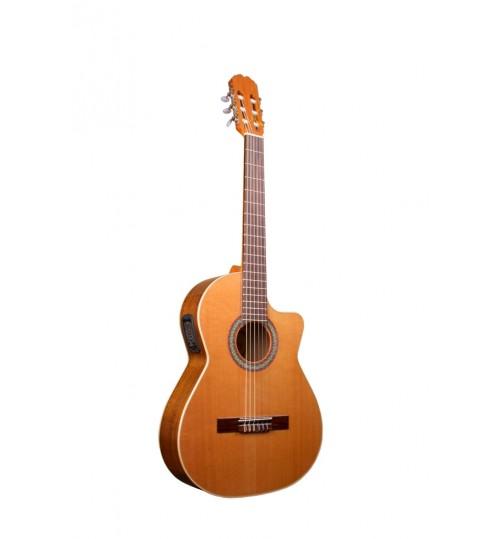Alvaro No: 55EC Cutaway Elektro Klasik Gitar ALV0690EC