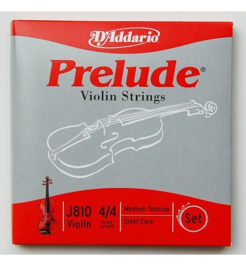 D'addario Prelude Set Keman Teli J810