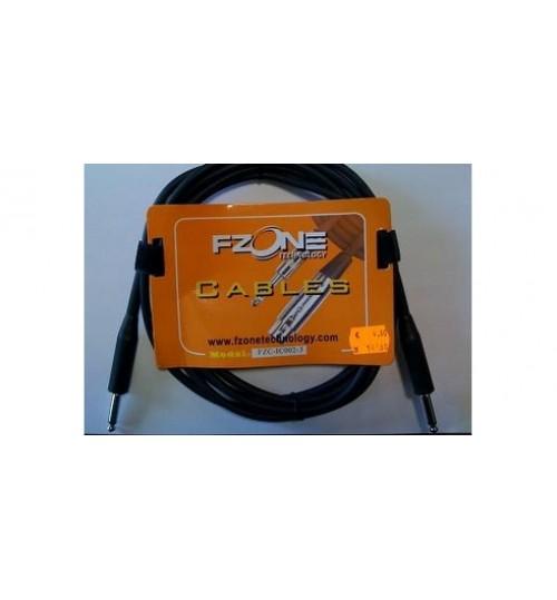 Fzone 3M Siyah Enstruman Kablosu FZC-IC012-3
